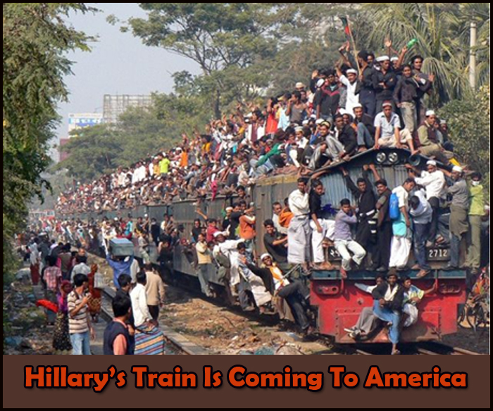 Hillary's Immigration Train